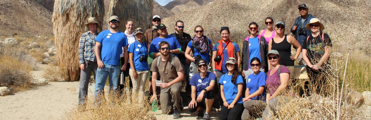 AIP students in the desert