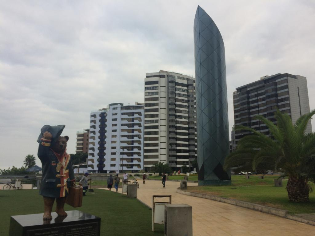 A statue of Paddington bear in Lima, Peru. Photo by the author.