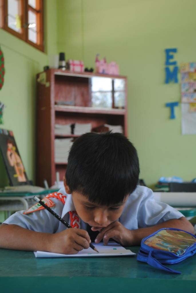 A budding young artist!