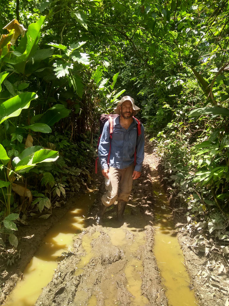 Muddy trails are common during the wet season and make access to oxbow lakes more challenging. Photo: Ronald Kapechi