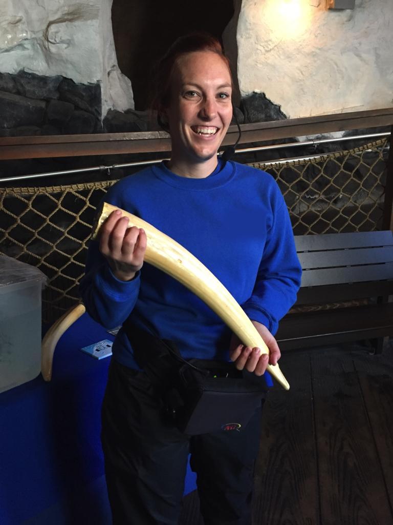 Hannah Webster enjoys hands-on experience.