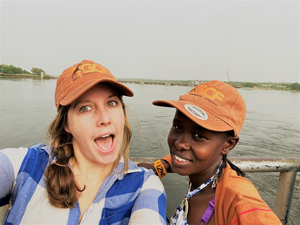 The authors crossing the Nile River!