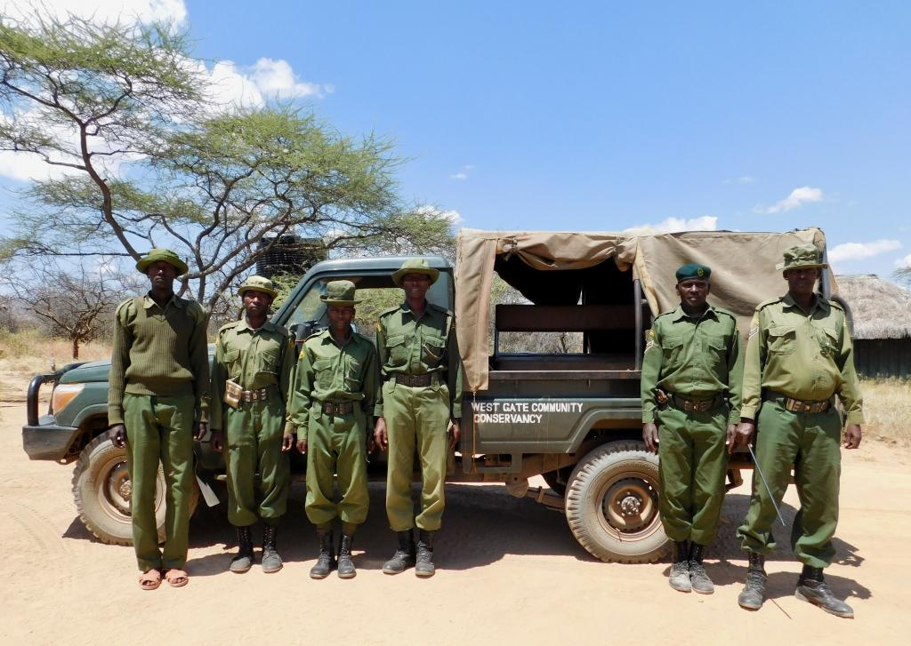 Members of Westgate's security team with their new vehicle sponsored by the County Government of Samburu.