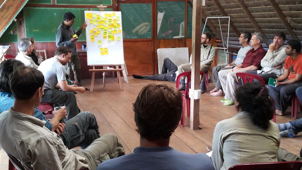 Participants brainstorming.